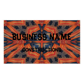 Red & Blue Abstract Pattern Pack Of Standard Business Cards