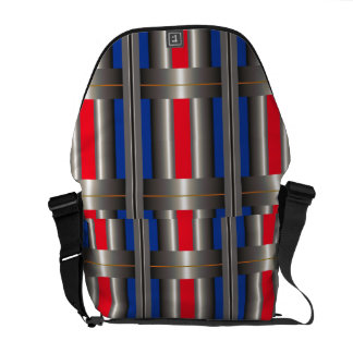 Red Blue Abstract  Rickshaw Messanger Bag red Courier Bags