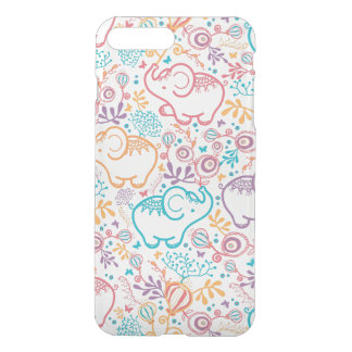 Red Blue And Beige Elephants And Flowers iPhone 8 Plus/7 Plus Case