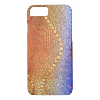 Red blue and gold circle case