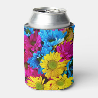red,blue and yellow daisies beverage cooler