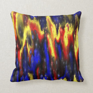 red blue and yellow throw pillow
