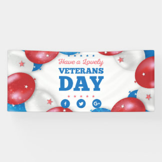 Red Blue Balloons Have a lovely veterans day