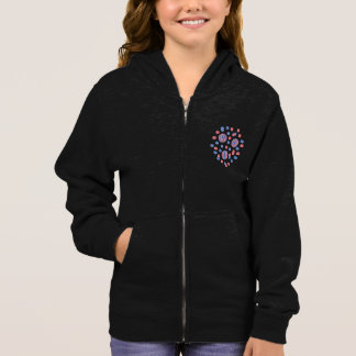 Red Blue Balls Girls' Basic Zip Hoodie