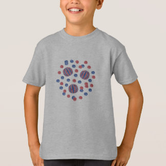 Red Blue Balls Kids' Cotton T-Shirt