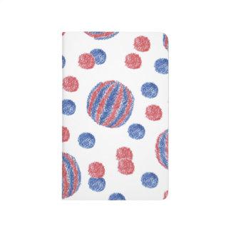 Red Blue Balls Pocket Journal