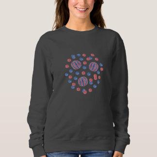 Red Blue Balls Women's Basic Sweatshirt