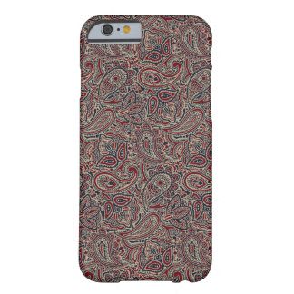 Red Blue Beige Paisley Barely There iPhone 6 Case