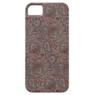 Red Blue Beige Paisley iPhone 5 Case