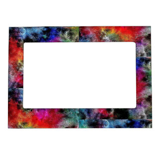 Red blue black mix of colours  5x7 Magnetic Frame