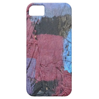Red, Blue & Black Paint Style Case For The iPhone 5