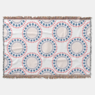 Red & Blue Circles Throw