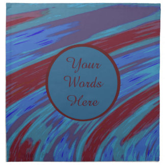 Red Blue Color Swish Abstract Napkin