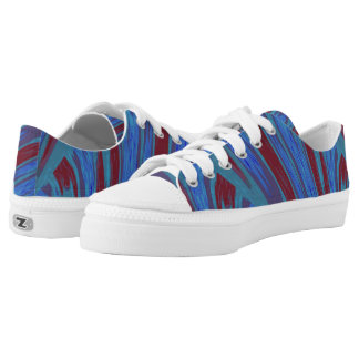 Red Blue Color Swish Low Tops