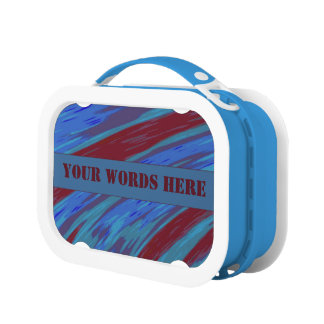 Red Blue Color Swish Lunch Box