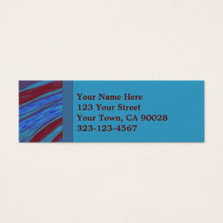 Red Blue Color Swish Mini Business Card