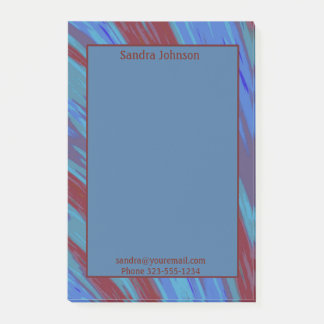 Red  Blue Color Swish Post-it Notes