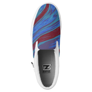 Red Blue Color Swish Slip On Shoes