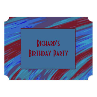 Red Blue Colour Swish abstract Card