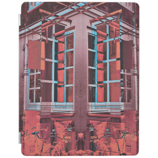 Red blue Copenhagen windows reflection digital art iPad Cover