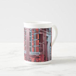 Red blue Copenhagen windows reflection digital art Tea Cup