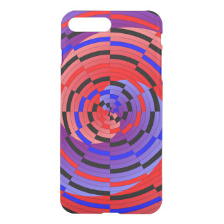Red & Blue Counter Spiral by Kenneth Yoncich iPhone 7 Plus Case