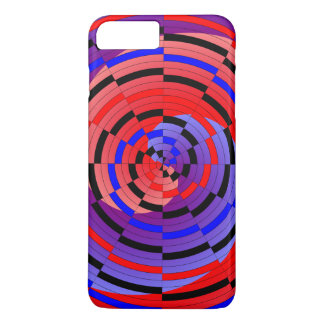 Red & Blue Counter Spiral iPhone 7 Plus Case