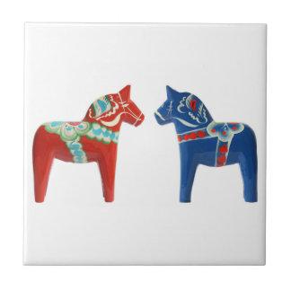 Red & Blue Dala Horse Tiles