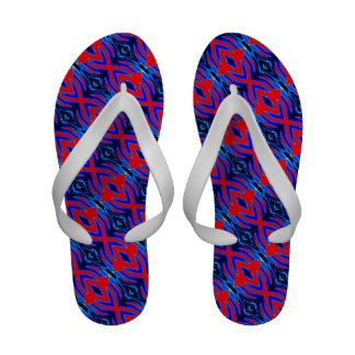 Red Blue Diamon Flair Sandals