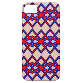 Red & Blue Diamond Flower iPhone Case