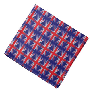 red blue England UK flag Bandana