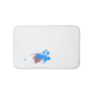 Red & Blue Fuzzy Bath Mat