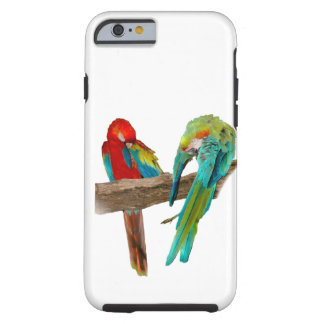 Red Blue Macaw Parrots iPhone 6/6s Case