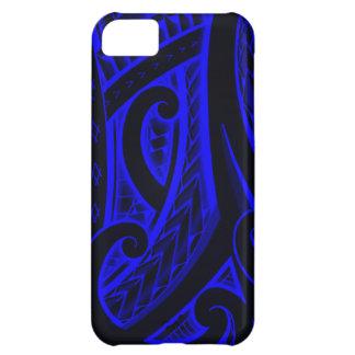 Red/Blue Maori style tribal tattoo design iPhone 5C Case