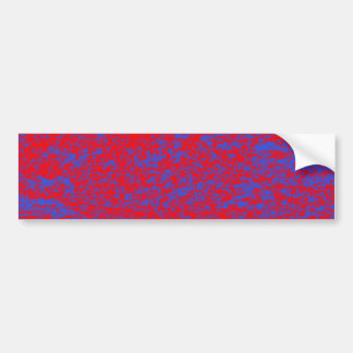 Red & Blue Marble Background Bumper Sticker