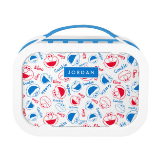 Red & Blue Pattern | Add Your Name Lunch Box