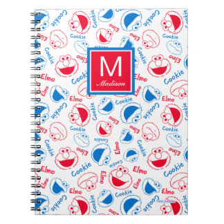 Red & Blue Pattern | Add Your Name Notebooks
