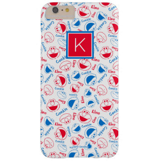 Red & Blue Pattern | Monogram Barely There iPhone 6 Plus Case