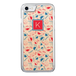 Red & Blue Pattern | Monogram Carved iPhone 8/7 Case