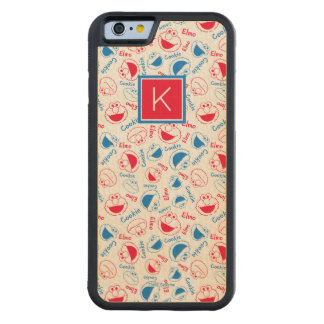 Red & Blue Pattern | Monogram Carved Maple iPhone 6 Bumper Case