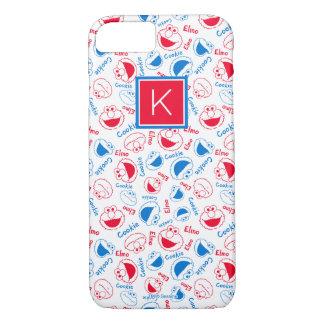 Red & Blue Pattern | Monogram iPhone 8/7 Case