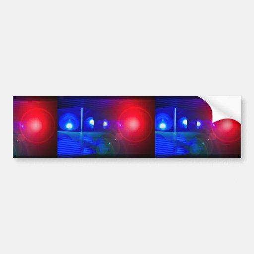 red & blue police lights bumper sticker