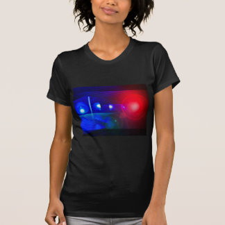 red & blue police lights t shirt