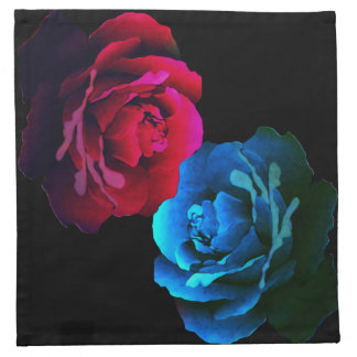 Red & Blue Roses Napkins