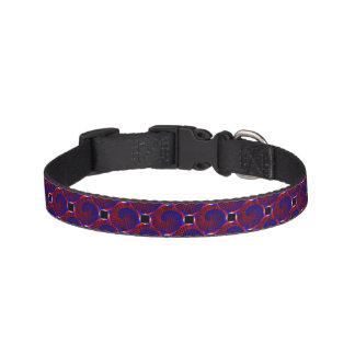 Red & Blue Spiral Pet Collar