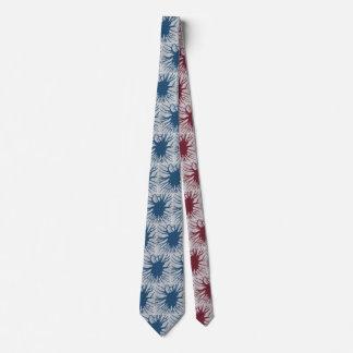 Red & Blue Starburst Tie