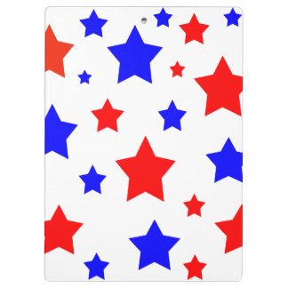 Red Blue Stars Clipboards