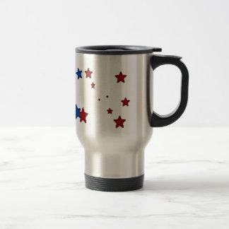 Red, blue stars Travel Mug
