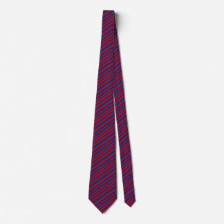 Red Blue Striped Fashion Gift for Him Tie