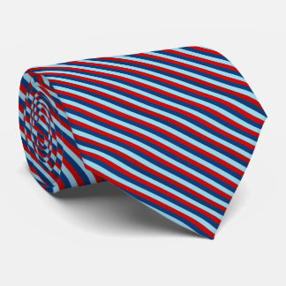 Red Blue Striped Pattern Tie